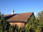 Deuxième pans de toiture avant installation.