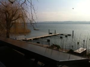 Le mandat fut réalisé durant l'hiver, sans pouvoir aller dedans, rien que la vue sur le lac fut agréable...
